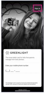 greenlight,digital wallet, kids